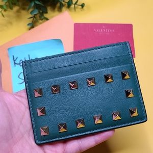 NEW UNUSED VALENTINO GARAVANI GREEN CARD HOLDER